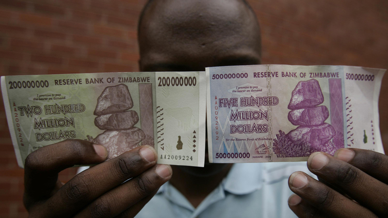 In late 2016, the government introduced 'bond notes', a kind of bearer cheque designed to address a chronic shortage of physical US dollars in the country. (Reuters/Philimon Bulawayo)